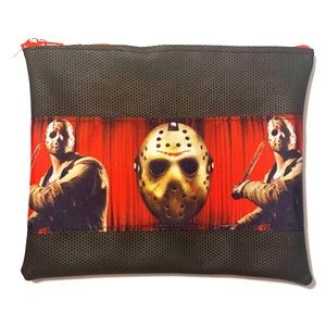 JASON VOORHEES FAUX LEATHER ZIP POUCH